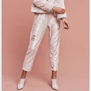 Anthropologie Hei Hei Sequin Joggers